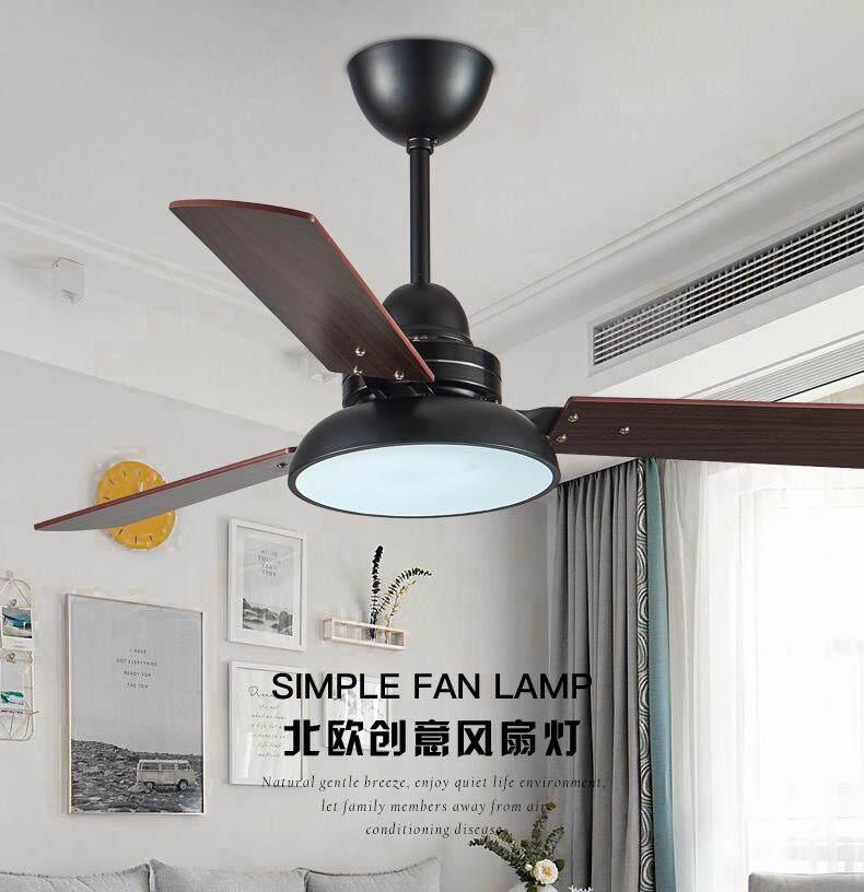 Qukau Led Ceiling Fan Light American