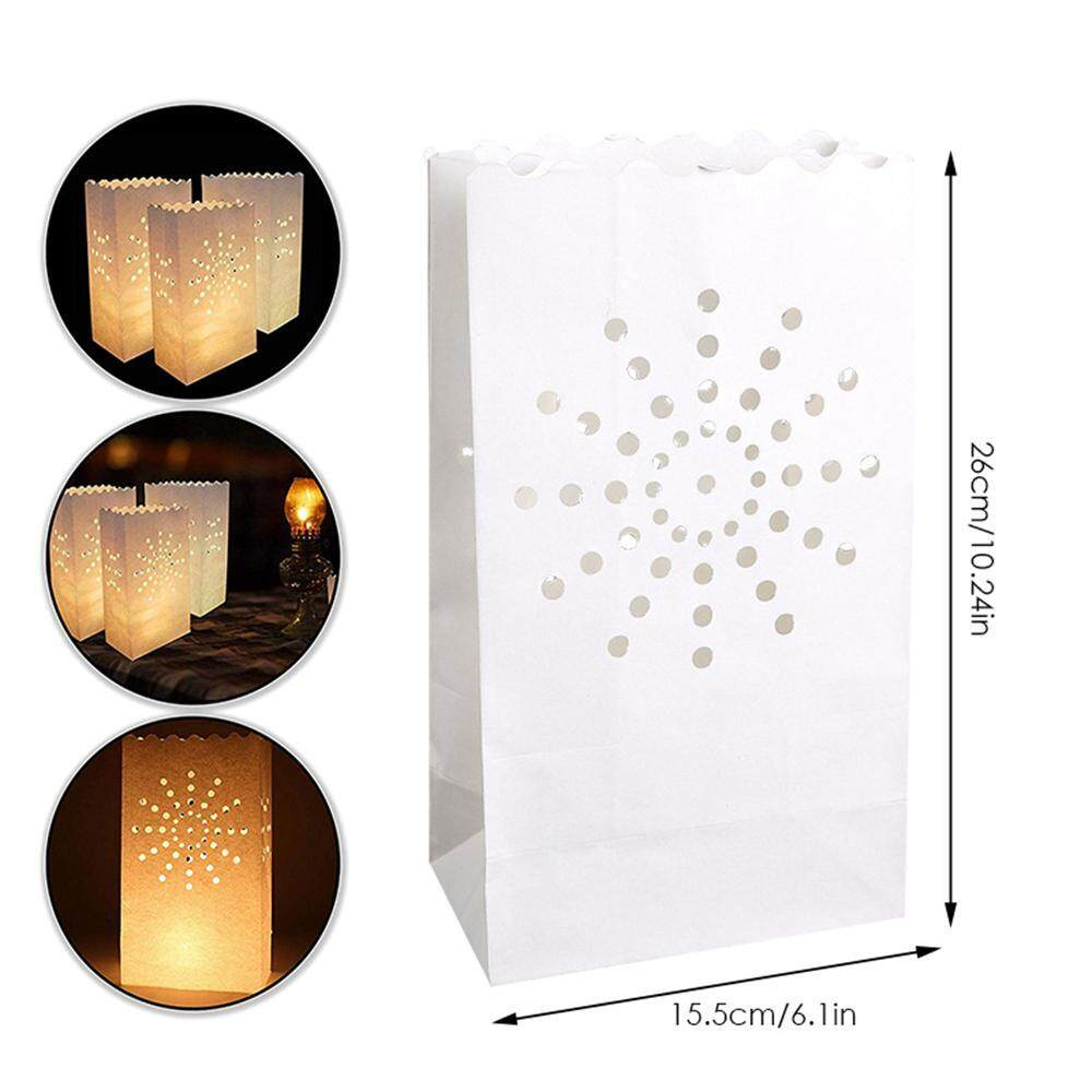 26cm Candle Bags pack of 5 white big star luminary paper lanterns