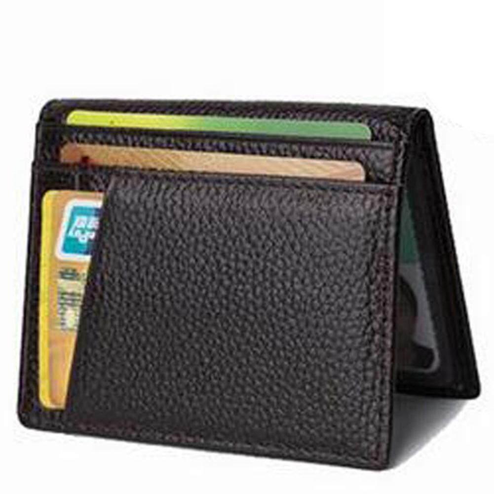 6c6174e52030a6 Product details of Men Slim Billfold Wallet PU Leather Credit Card Holder  Coin Money Clip Zip Bag Black Brown