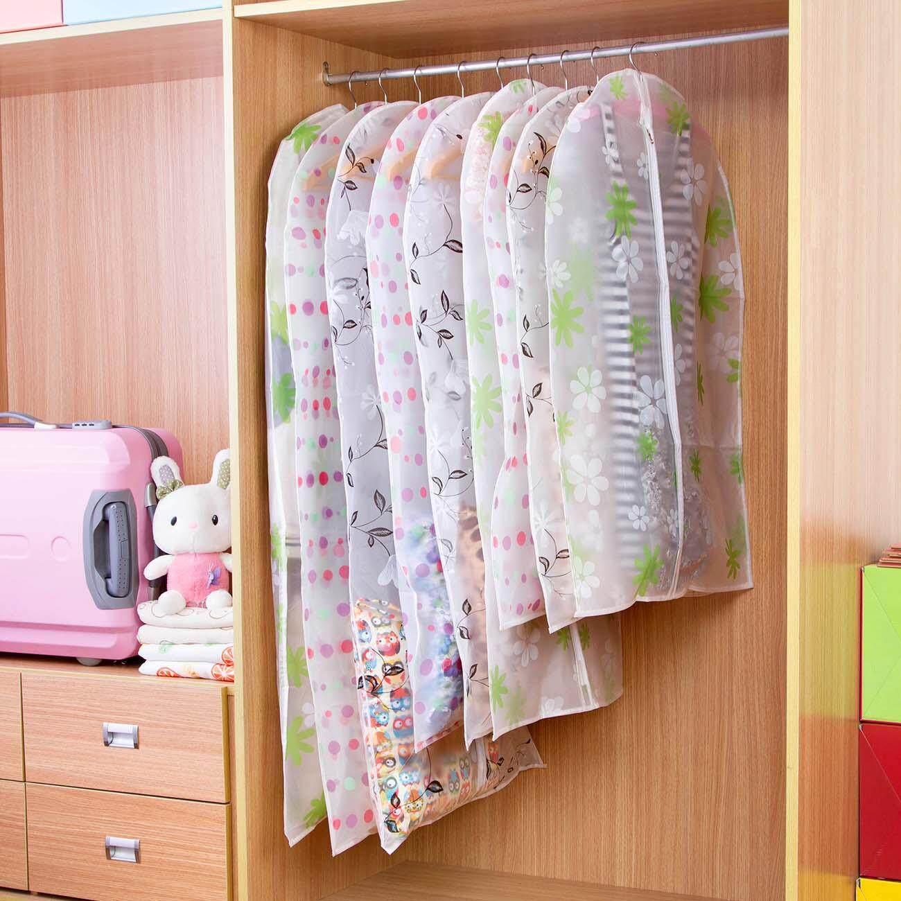 841999826c21 Homenhome Transparent Hanging Pocket Clothing Dust Cover Suit Storage Bag