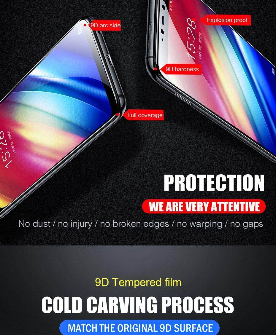 9D full cover Tempered Glass For Samsung Galaxy A5 A6 A7 A8 A9 A6 Plus A8  Plus 2018 Full Cover Screen Protector For samsung A9 Pro 2019 glass Film