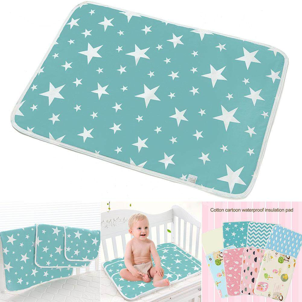 Multicolored Stripe Organic Colored Cotton Waterproof Layer Baby Changing Mat Changing Urine Pad Bed Sheets for Newborn