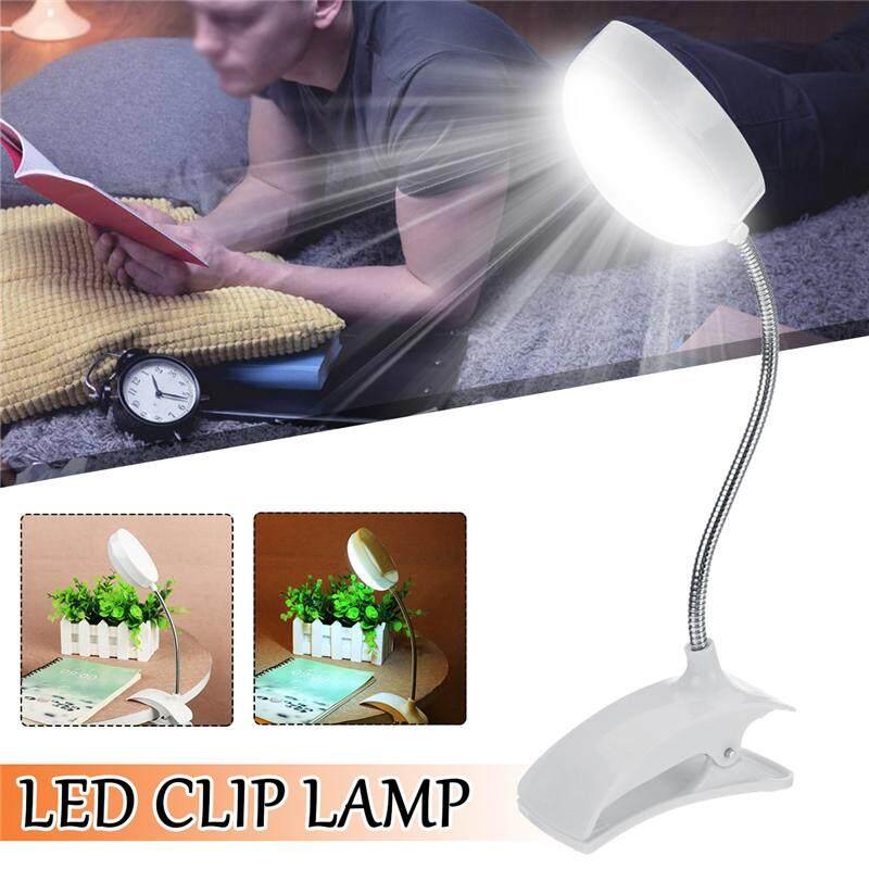 Flexible LED Reading Light Clip-on Beside Bed Table Desk Book Lamp Light White
