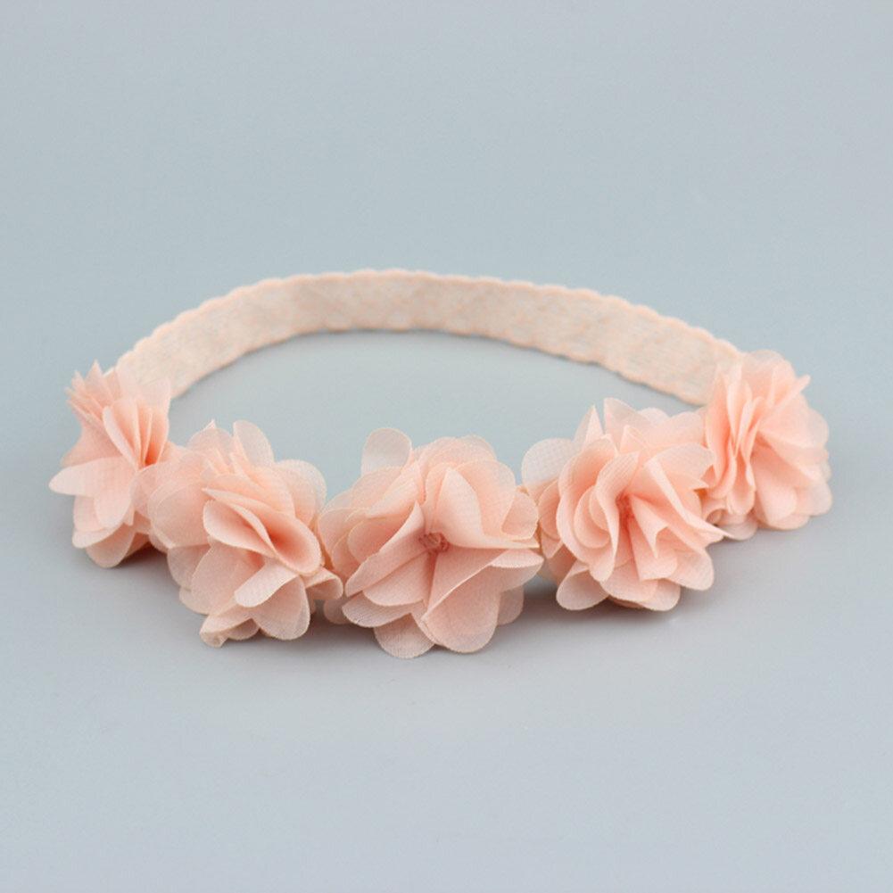Cute Baby Girls Kids Toddler Lace Flower Headband Hair Band Headwear Accessories