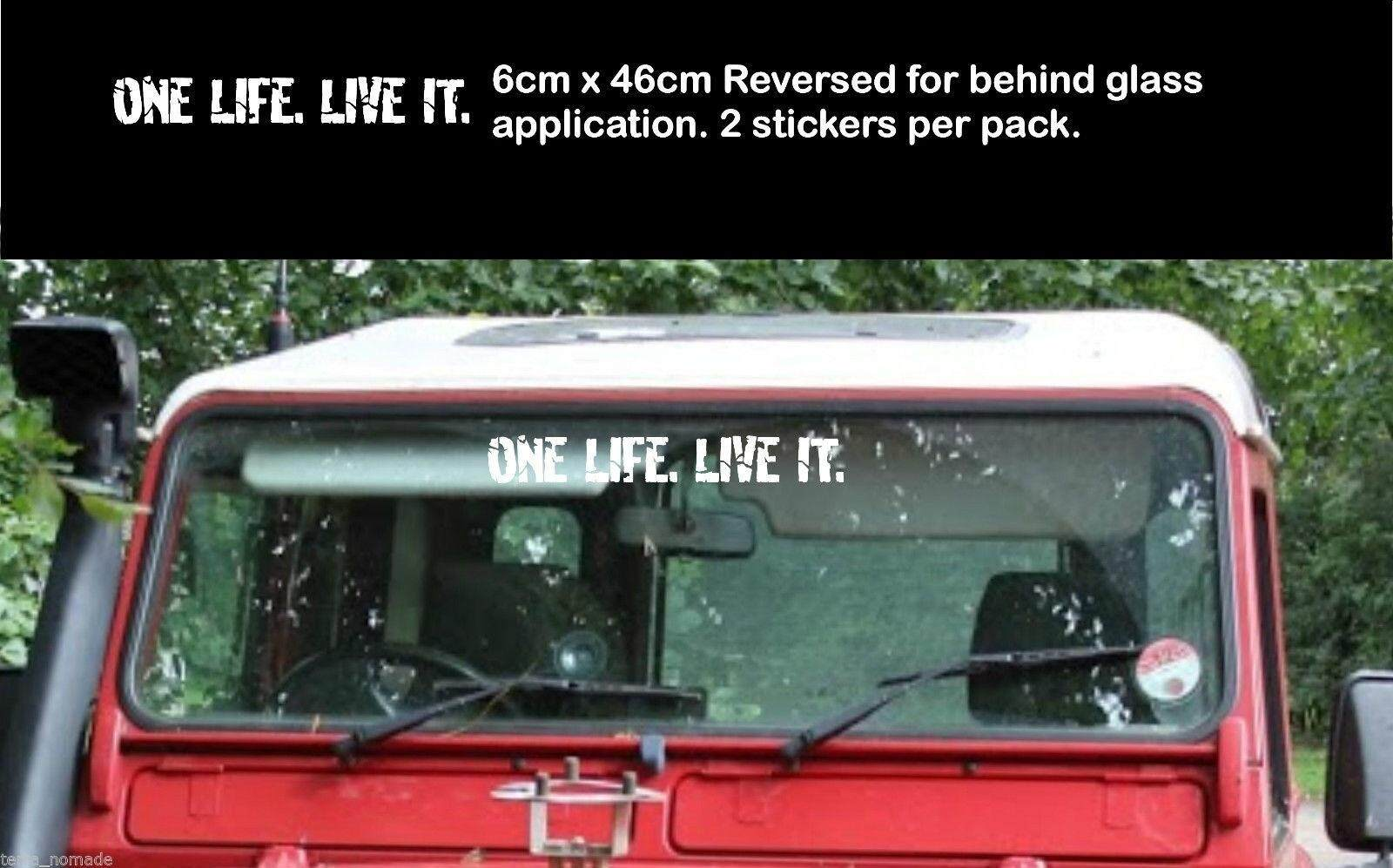 2 X One Life Live It Stickers Land Rover Camel Trophy 4x4 Off Road Funny 6x46cm