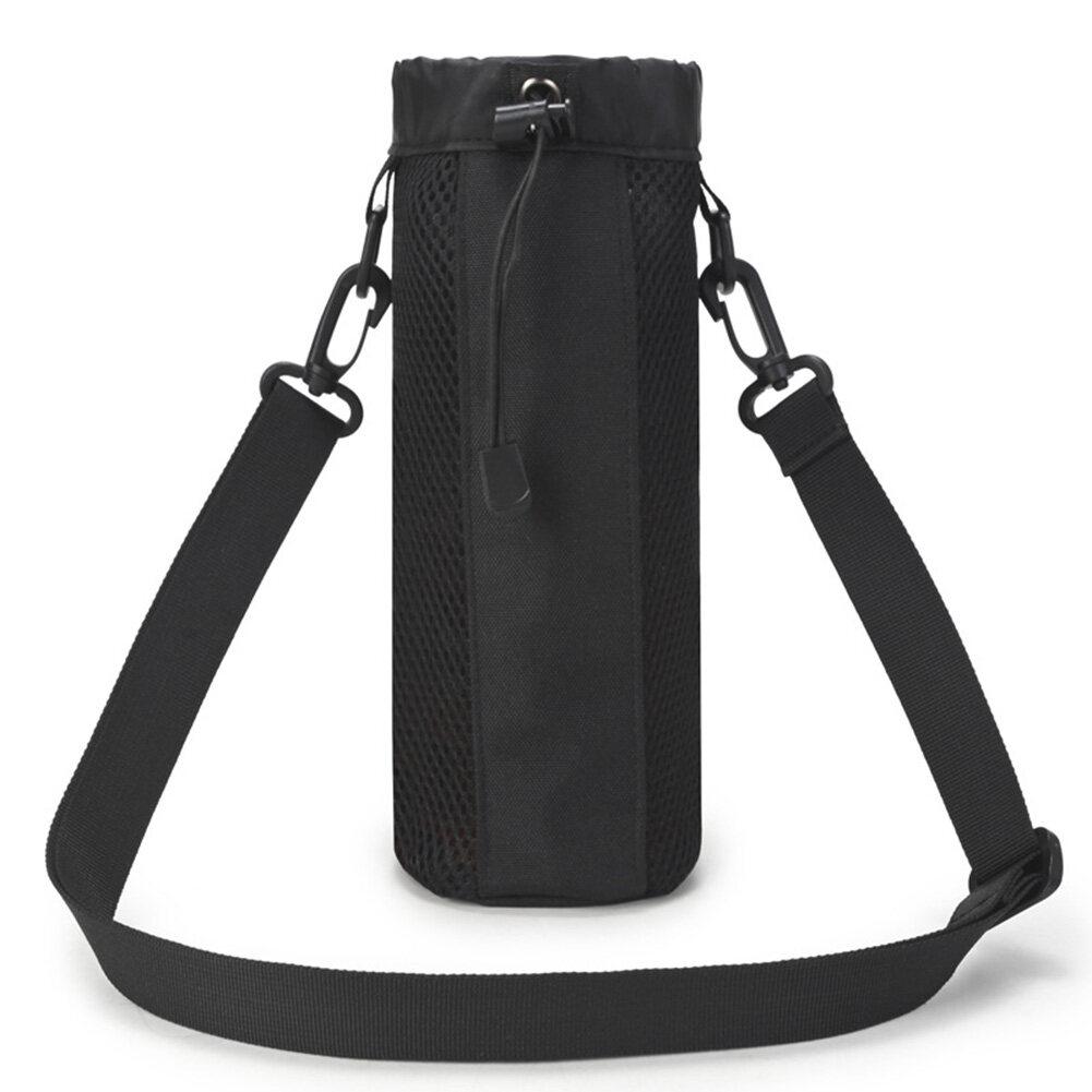 Tactical Molle Water Bottle Kettle Pouch Holder Storage Bag with Shoulder Strap