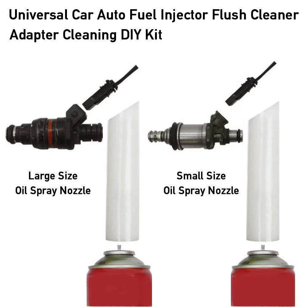 Jnan Vehicle Fuel Injector Wire Cleaner Adapter DIY Kit Car Cleaning Tool  with 2 Nozzles Clean Cars Motorcycle Fuel Injectors