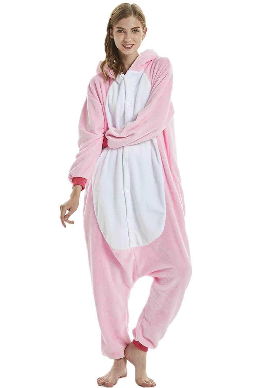 3aa99fdd Adult One Pajamas Cute Unicorn Print Onesie Adult Animal Pajamas Cosplay  Pajams Unisex Sleeping Clothes sleepwear Winter pajamas.