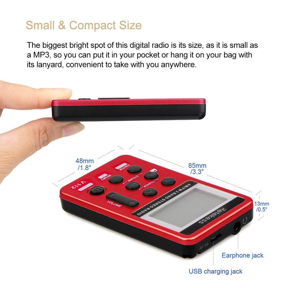 Retekess FM AM 2Band Radio Receiver Mini Pocket Rechargeable Battery W// Earphone