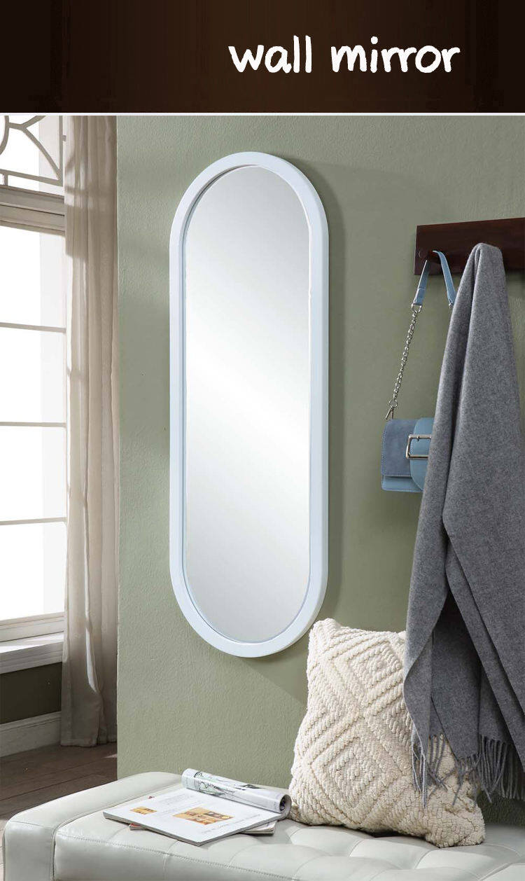 Kz04 Wooden Frame Bedroom Vanity Mirror Wall Hanging Full Length Mirror Fitting Mirror Oval Corner Wall Hanging Decoration Simple Silver Mirror Lazada Singapore