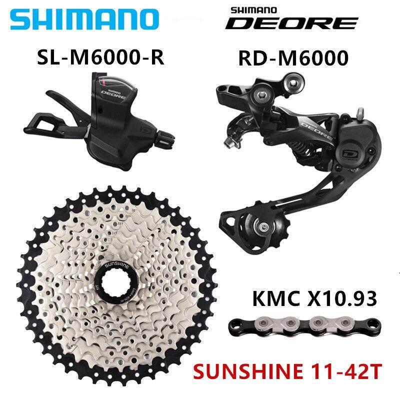 SHIMANO DEORE M6000 Groupset 1x10-Speed 11-46T M6000 Rear Derailleur Shift  Lever Chainring + Chain+cassette+Rear derailleur