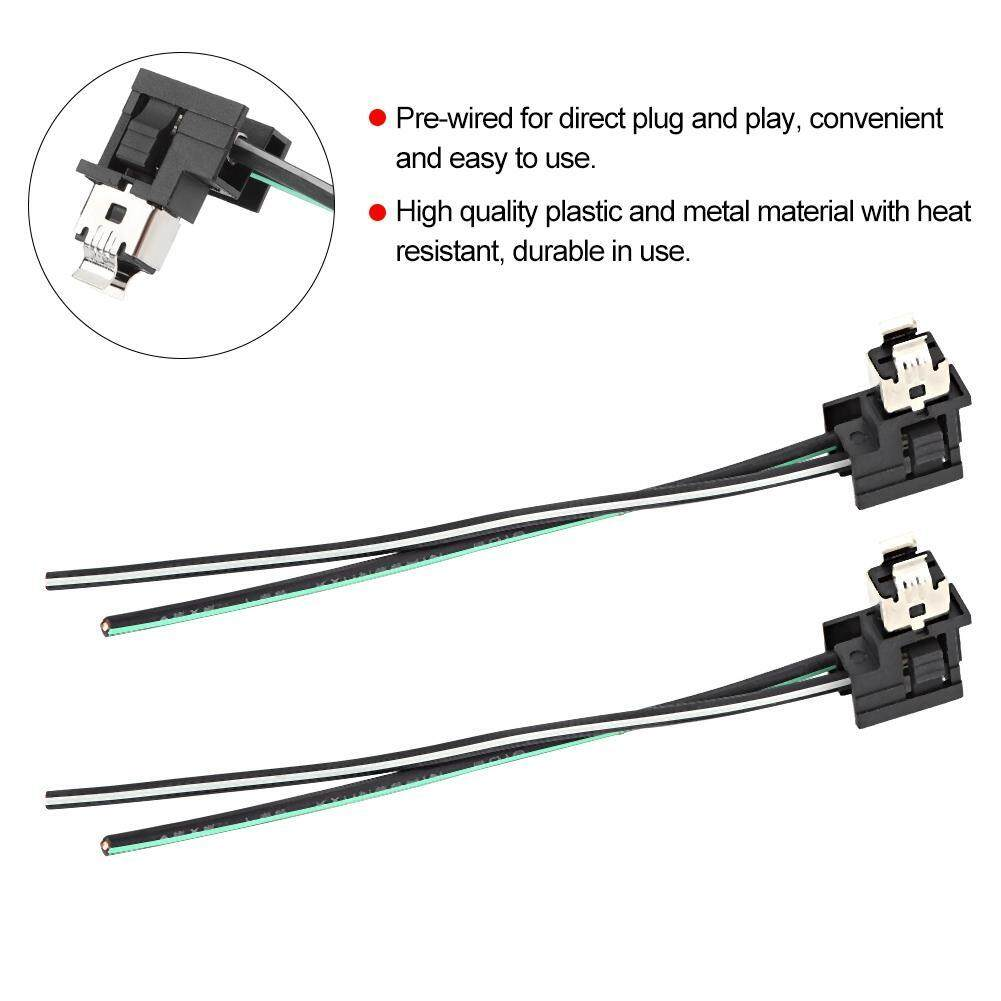 justogo 2Pcs Headlight Lamp Bulb Socket Wiring Harness Connector Plug on
