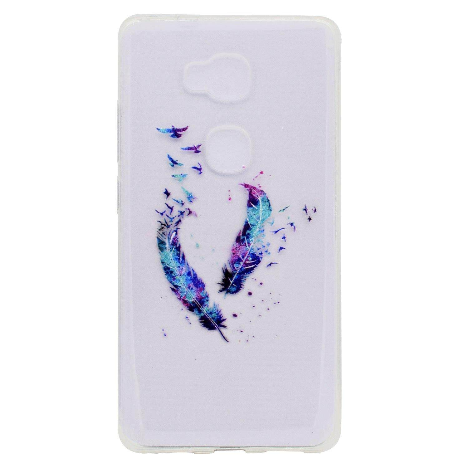 For Huawei Honor 5X KIW-L21 KIW-L22 Case Shell Cover Painted Soft TPU  Silicone Protector Case for Huawei Honor5X KIW-L21 KIW-L22 Cases
