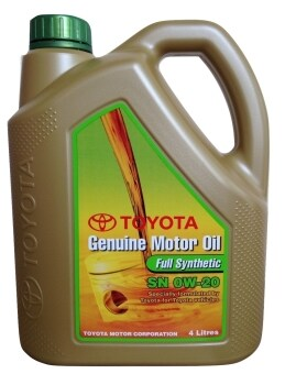 0w 20 Toyota Full Synthetic Genuine Motor Oil Lazada