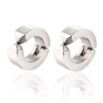 1 pair mens ear clip titanium steel earrings u shaped studs