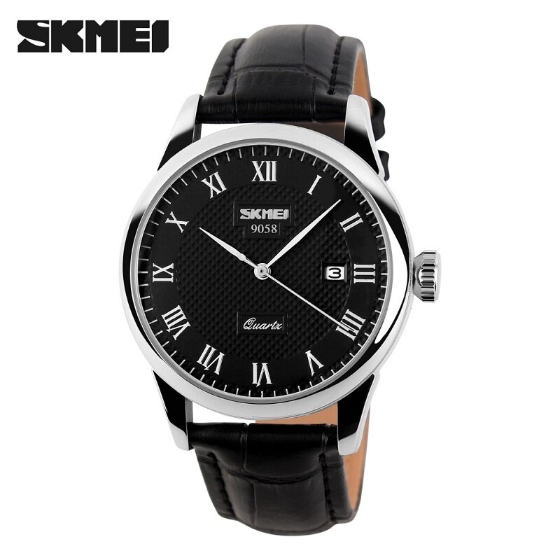[100% Genuine]SKMEI Brand Luxury Women Quartz Watch Fashion Casual Watches 30M Waterproof Leather Strap Womens Wristwatches 9058 Malaysia