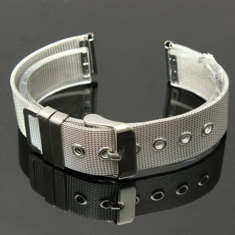1PC Solid Stainless Steel Watchbands 18mm 20mm 22mm Fashion Classic Clasp Buckle Straight End Men Watch Accessories Watch Strap Malaysia