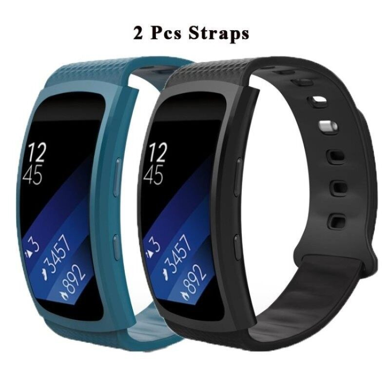 2 Pcs Soft Silicone Replacement Sport Bands for Samsung Gear Fit 2SM-R360 Smart Watch Malaysia