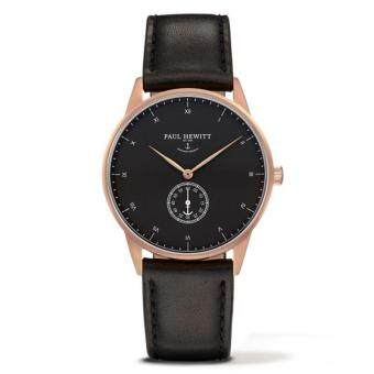 Harga 2017 New Fashion Two Needle Half Watch PAUL HEWITT Men Watch RoseGold Black Face Watch