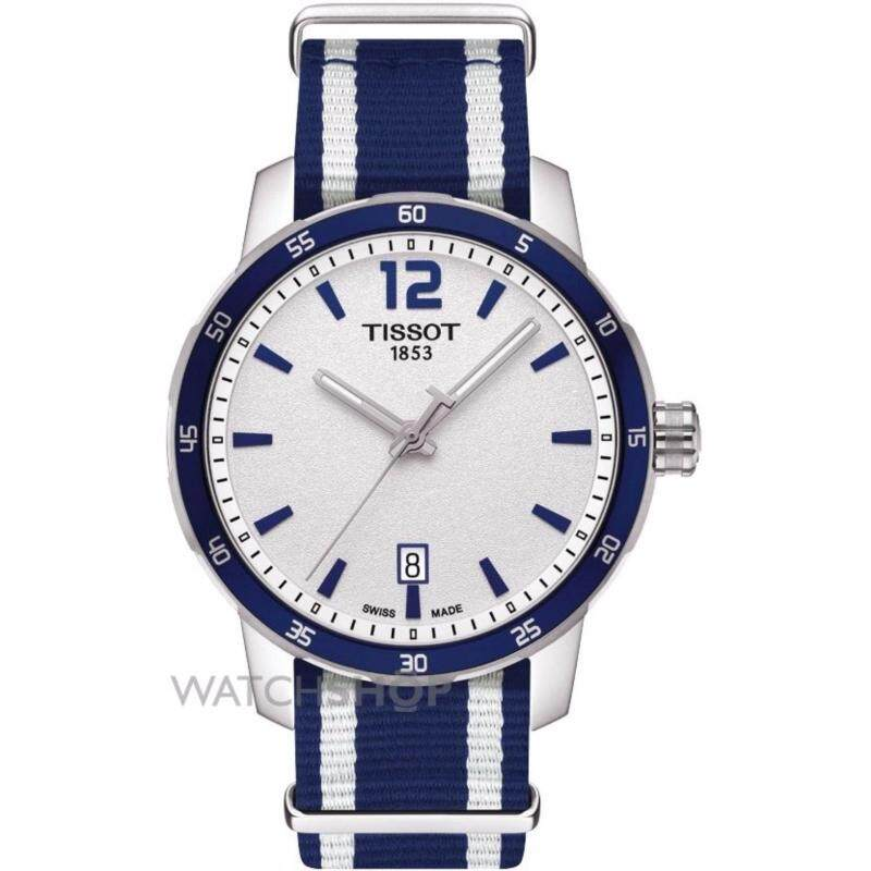 *2017 New Stock* TISSOT Quickster Silver Dial Unisex Watch- Blue/White Stripe Nylon/100% Genuine/Scratch Resistant Sapphire/100m Water Resistance/2 years Warranty Malaysia