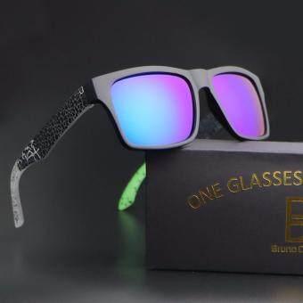 2017 new sunglasses men women sport sun glasses helm (green frame green lense)