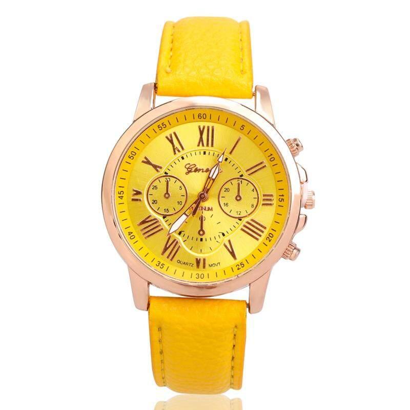 2017 Women fashion watch leather watch band Rome pointer wrist watches Malaysia