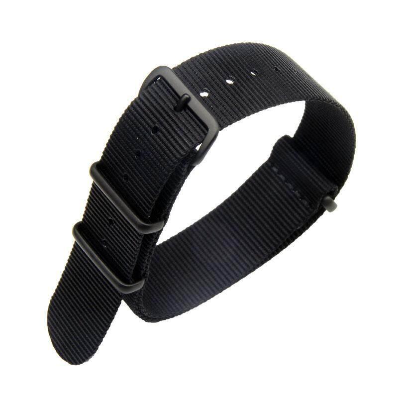 20mm Nylon Watchband Fabric Watch Band NATO Steel Buckle Strap Wrist Bracelet Multi Color Malaysia