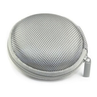 360DSC Protection Carrying Pocket Case Cover Storage Bag forEarphone MP3 - Silver