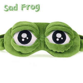 Harga 3D Sad Frog Sleep Mask Rest Travel Relax Sleeping Aid Blindfold IceCover Eye Patch Sleeping Mask Case Anime Cosplay Costumes