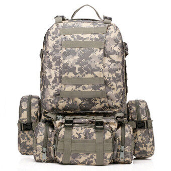 50L Molle 3D Assault Tactical Outdoor Military Rucksacks BackpackCamping Bag ACU