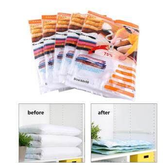 5Pcs/Pack Home Vacuum Compressed Storage Bags Clothes Sapce Saver Traveling Package Organizer 50 x 60cm
