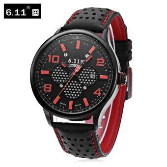 6.11 NO - 008 Men Photovoltaic Solar Energy Quartz Watch Mineral Reinforced Glass Calendar Wristwatch