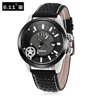 6.11 NO - 009 Men Photovoltaic Solar Energy Quartz Watch Mineral Reinforced Glass Calendar Wristwatch