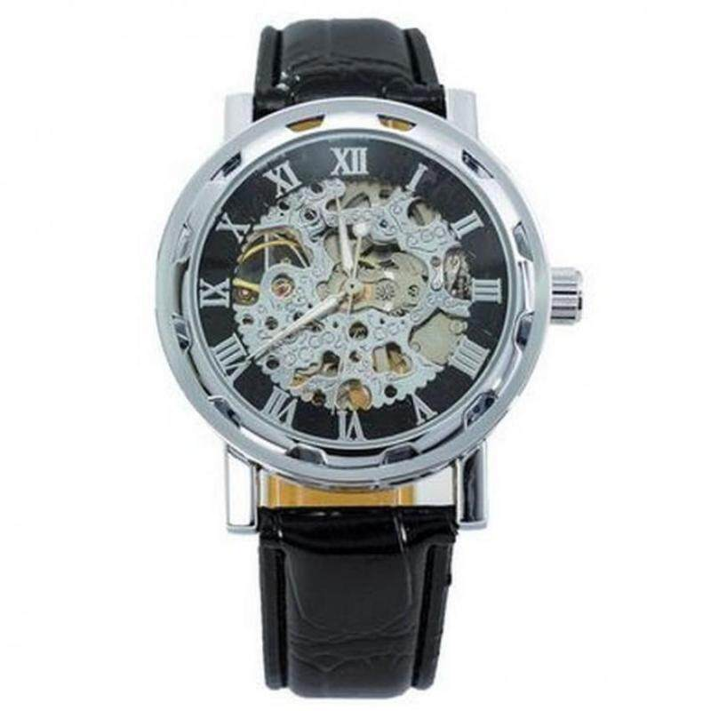 631656 Mens Watches Automatic Movement Transparent - Silver Malaysia