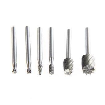 6pcs rotary tool mini drill bit set cutting tools forwood carvingtools kit - 5