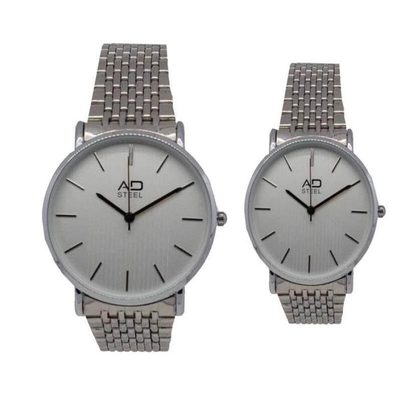 AD Steel Deluxe Stainless Steel Couple Watch 2pcs Set (AD522SL7A-0304) Malaysia