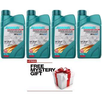 Addinol Engine Oil Synthetic 5W-30 Premium 4 X 1 Liter FREE MYSTERY GIFT