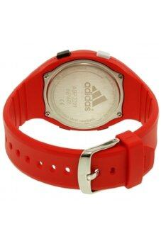 Adidas Performance ADP3209 LCD Dial Red Resin Strap Unisex Watch (Black & Red)