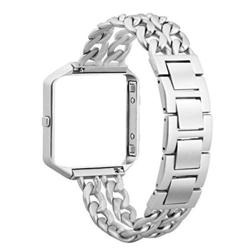 Amzelas Fitbit Blaze Bands with Frame , Stainless Steel Chain Links Style Bracelet Clasp Replacement Accessories Wristband for Fitbit Blaze Smart Fitness Watch, Regular Length Malaysia