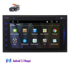 Android 7.1 System in Dash Car GPS DVD Player Car Stereo Double Din Octa Core Car Deck Navigation Vehicle Headunit for Universal Car Bluetooth Hands