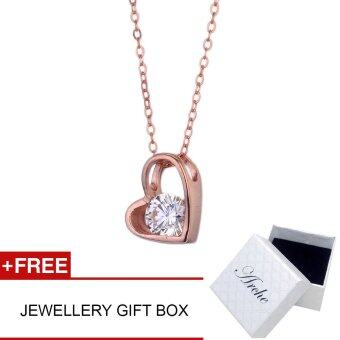 Arche Jewellery Joy of Love Pendant Necklace 925 Silver Trendy Fashion Designer Jewellery (Rose Gold)