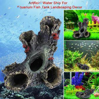 Harga Artificial Resin Aqua Aquarium Dead Wood Fish To avoid Hole TankOrnament Decor