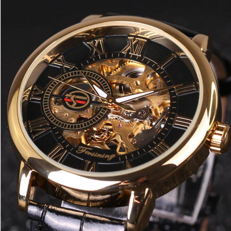 Automatic mechanical watches Hollow out Manual mechanical watch leather belt watch COUPLE WATCHES WOMEN MENS WATCHES Malaysia