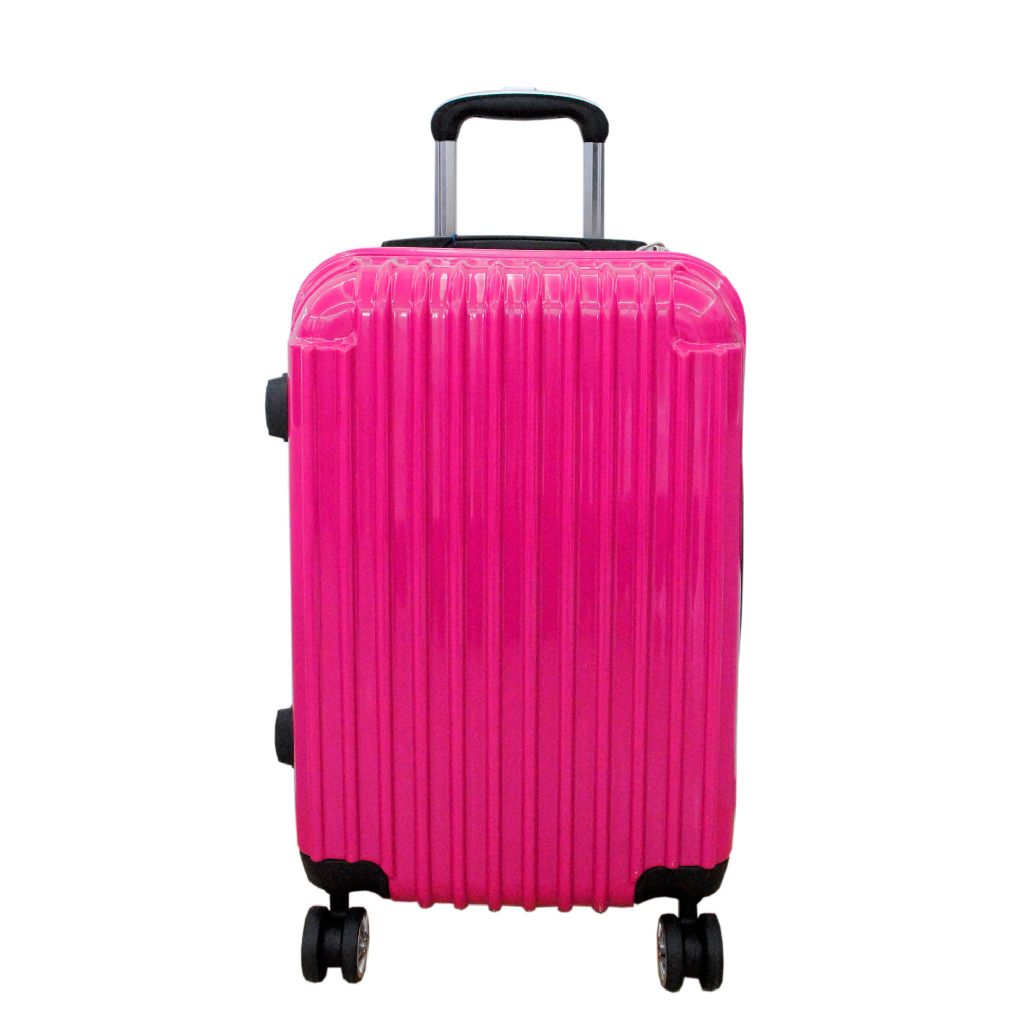 "Barry Smith 20"" 8 Wheeler Expandable Hardcase Luggage (Pink ..."