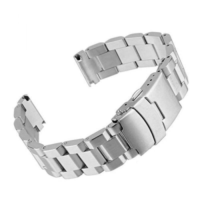 Beauty7 20mm Stainless Steel Link Wrist Watch Band Bracelet Strap Replacement Double Locking Clasp Malaysia