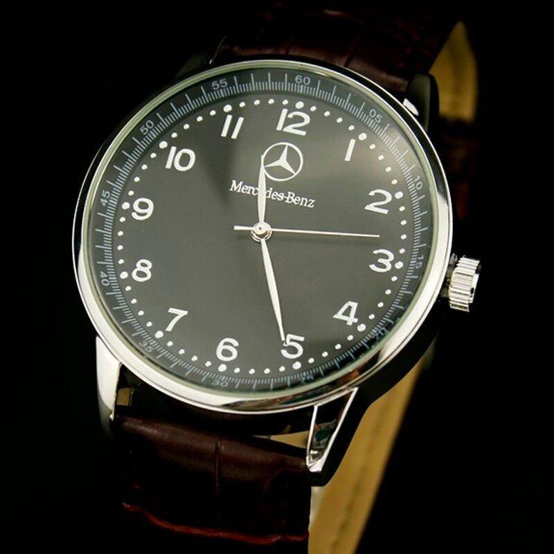 Benz Men Luxury Brand Leather Waterproof Quartz Watch Business Wrist Watch (Black) Malaysia