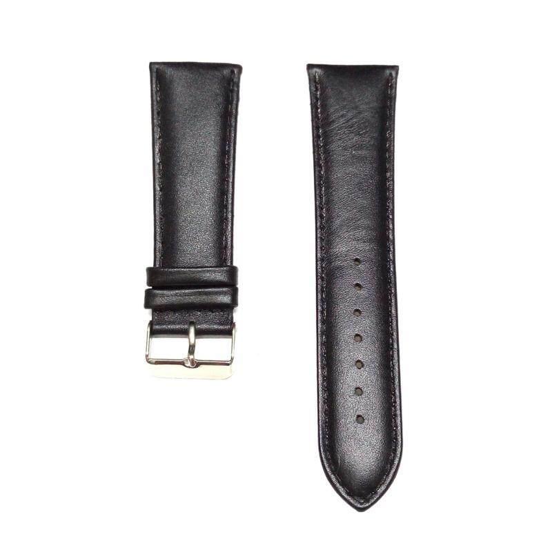 BILLPOLO Genuine Leather 26mm Strap- Silver Buckle (Black) Malaysia