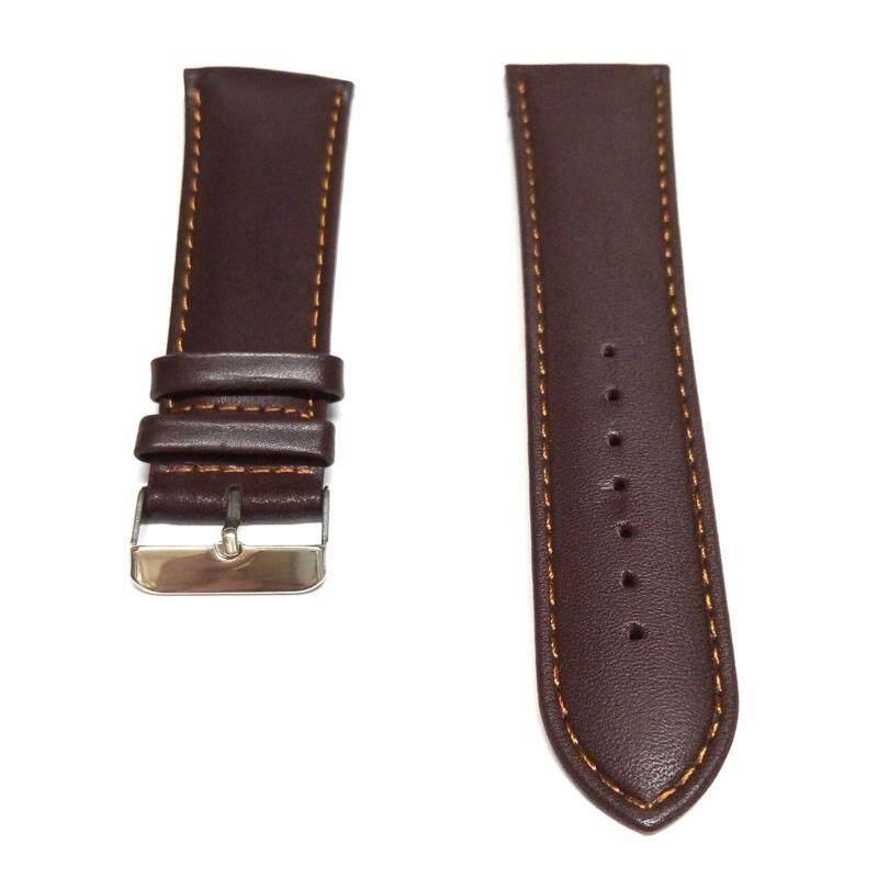 BILLPOLO Genuine Leather 26mm Strap- Silver Buckle (Brown) Malaysia