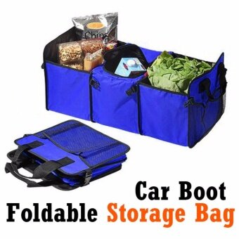 sell blue interior car boot car trunk fold able organizer storage bag in best. Black Bedroom Furniture Sets. Home Design Ideas