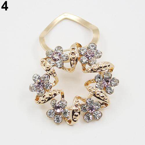Bluelans® Fashion Korean Brooch Jewelry Luxury Rhinestone Garland Scarf Clip Brooches Pin (Pink) image on snachetto.com